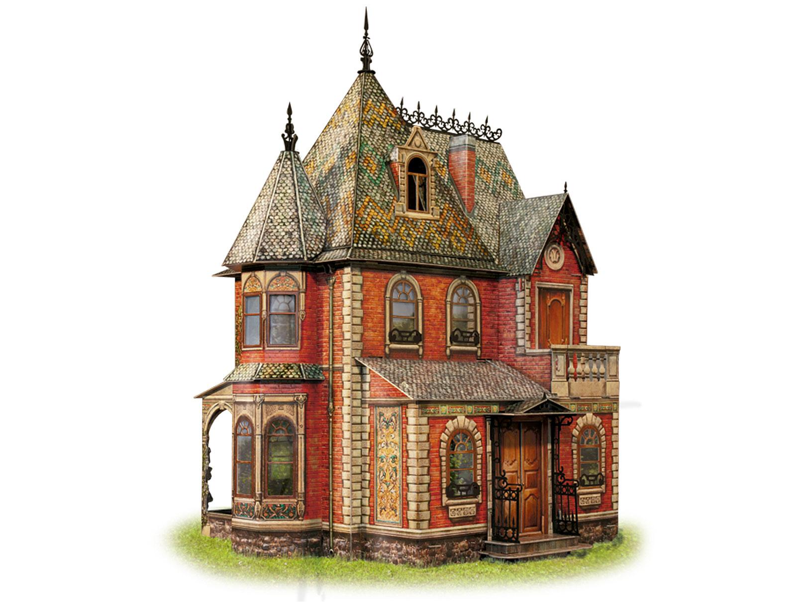 Дом в стиле замка своими руками 13