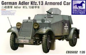 cb-35032 German Adler Kfz.13 Armored Car 1/35 Bronco