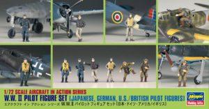 35008 Фигуры пилотов WW2 1/72 Hasegawa