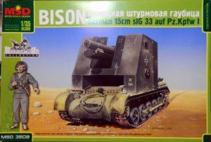 3508 Макет 1/35 Немецкая штурмовая гаубица Bison sIG 33 auf Pz.Kpfw I
