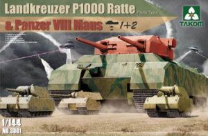 takom 3001 landkreuzer p1000 ratte + maus 1 144