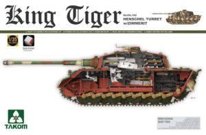 2045 Takom 1/35 King Tiger Sd.Kfz.182 Henschel Turret w/Zimmerit and interior