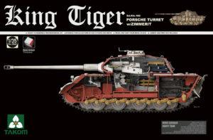 2046 Takom 1/35 King Tiger Sd.Kfz 182 Porsche Turret w/Zimmerit