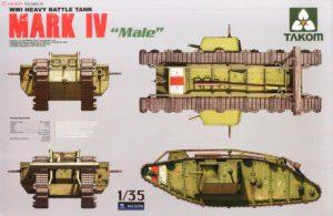 2008 Танк WWI Heavy Battle Tank Mark IV Male (Takom) 1/35
