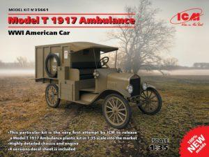 35661 ICM 1/35 Американский автомобиль Model T 1917 санитарная