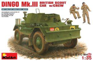 35077 MiniArt 1/35 Динго Mк.III Британский разведывательный автомобиль с экипажем