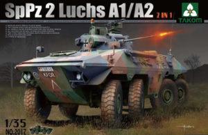 2017 Takom  Bundeswehr SpPz 2 Luchs A1/A2  2 in 1