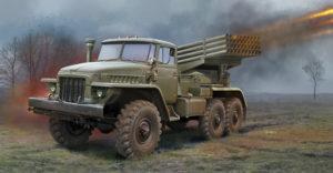 01028 Trumpeter 1/35 Пусковая установка БМ-21 Град