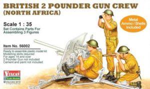56002 Vulcan Scale Models British 2 Pounder Gun Crew (North Africa)