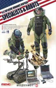 HS-003 Meng 1/35 U.S. EXPLOSIVE ORDANCE DISPOSAL SPECIALISTS & ROBOTS