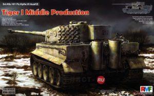 RM-5010 RMF Германский танк Тигр Sd.Kfz. 181 Pz.kpfw.VI Ausf. E Tiger I Middle Production W/ Full Interior