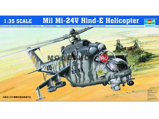05103 Trumpeter Вертолет Ми-24В   Mi-24V Hind-E Helicopter