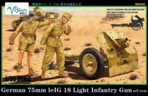 VM35007 Vision Models  German 75mm leIG18 Infantry Gun w/Crew