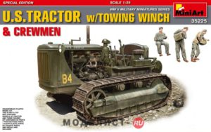 35225 MiniArt 1/35 U.S.TRACTOR w/Towing Winch & Crewmen.