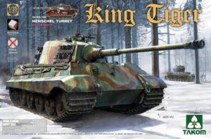 2073 Takom German Heavy Tank Sd.Kfz.182 King Tiger Henschel Turret w/interior [without Zimmerit]