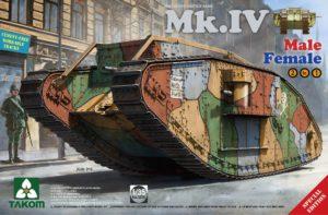 2076 Takom Heavy Battle Tank Mk.IV 2 in 1