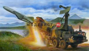 01035 Trumpeter Ракетный комплекс Russian 4K51 Rubezh Coastal ASM with P-15