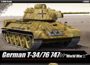 Academy 13502 Танк T-34 747(r) German Version