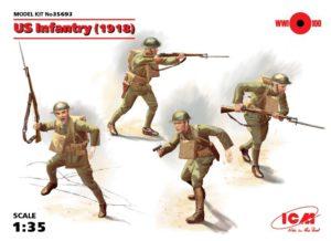 35693 ICM Фигурки пехота США (1918 г.)