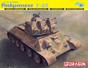 6599 Dragon 1/35 Зенитный танк FLAKPANZER T-34(r)