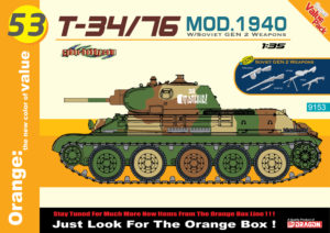 9153 Dragon 1:35  Танк  T-34/76 Mod.1940 + GEN2 Soviet Infantry Weapons
