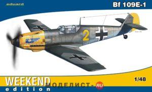 84164 Eduard 1/48 Самолет Bf 109E-1