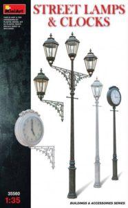Miniart 35560 Уличные фонари и часы.