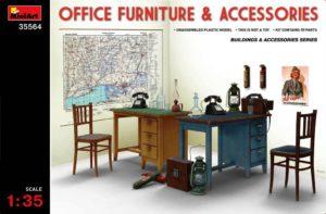 35564 MiniArt Офисная мебель и аксессуары 1:35
