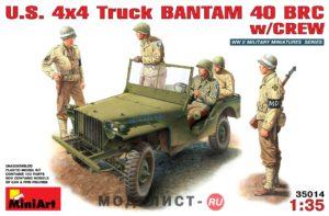 "35014 MiniArt 1/35 Американский джип ""Bantam BRC"" c экипажем"