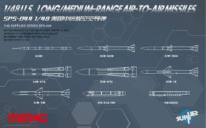 SPS-044 Meng 1/48 U.S. LONG/MEDIUM-RANGE AIR-TO-AIR MISSILES