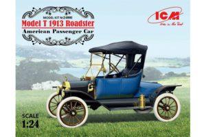 24001 ICM 1/24 Американский пассажирский автомобиль Model T 1913 Roadster