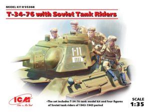 35368 ICM 1/35 Т-34-76 с советским танковым десантом