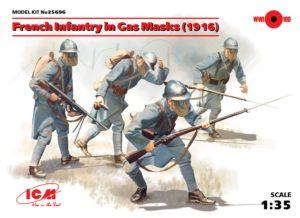 35696 ICM 1/35 Французская пехота в противогазах (1916 г.)