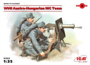 35697 ICM 1/35 Австро-венгерский пулеметный расчёт