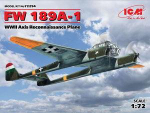 72294 ICM 1/72 FW 189A-1, Самолет-разведчик стран Оси ІІ МВ