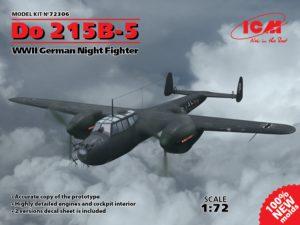 72306 ICM 1/72 Do 215B-5, Германский ночной истребитель ІІ МВ