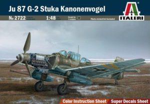 2722 Italeri 1/48 Самолет JU 87 G - 2 Stuka Kanonenvogel