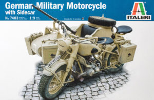 7403 Italeri 1:9 German Military Motorcycle with side car