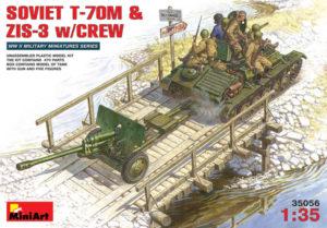 35056 MiniArt 1/35 Советский танк Т-70М с пушкой ЗИС-3 и экипажем