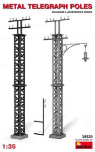 35529 MiniArt 1/35 Металлические телеграфные столбы