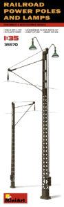 35570 MiniArt 1/35 Железнодорожные электроопоры с фонарями