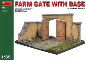 36034 MiniArt 1/35 Ворота фермы с основанием