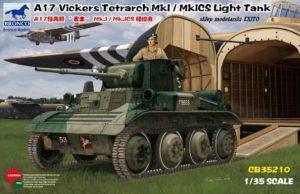 CB35210 Bronco 1/35 A17 Vickers Tetrarch MkI / MkICS Light Tank