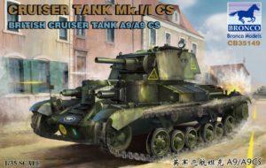 Bronco CB35149 Cruiser Tank Mark I/I CS British Cruiser Tank A9/A9 1:35
