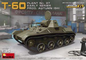 35224 MiniArt 1:35 Soviet Light Tank T-60 Plant №37  Interior Kit (early series) Т-60 (Завод №37) Ранняя Серия, Осень 1941г