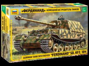 """3653 Звезда 1/35 Немецкий истребитель танков """"Фердинанд"""""""